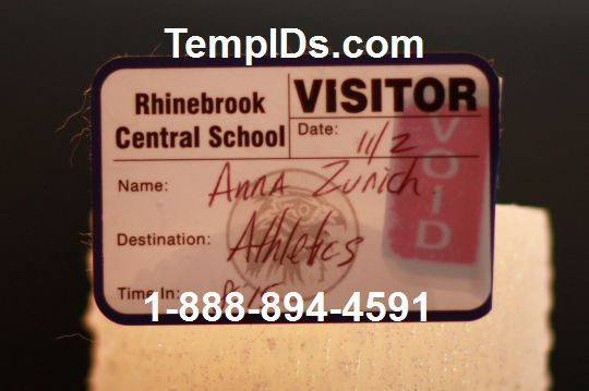 Self expiring visitor badge label with duplicate sample