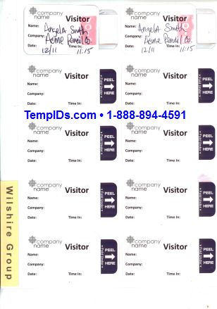 Sample Expiring Label Sheets Printed in Black