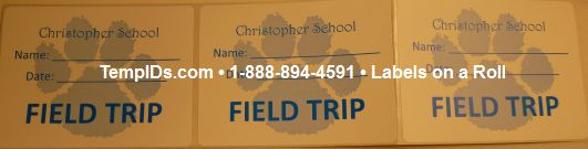 Field Trip Labels for Schools