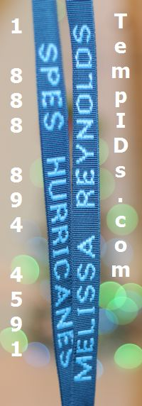 Monogrammed Personalize Lanyards Ordering Example