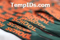 Personalized Lanyards Monogrammed Hunter with Orange Imprint