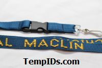 School Lanyards Personalized Navy Blue with Athletic Gold Imprint