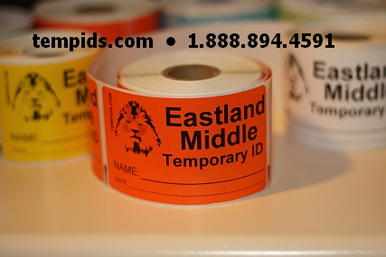 Example of Temporary ID Labels on a Roll