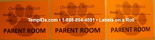 Labels for Schools Parent Passes