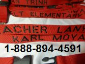 Personalized lanyards for schools sample red with black