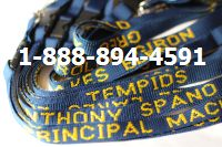 School Lanyards Teachers Name Navy with Athletic Gold Imprint