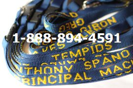 Teacher lanyards navy with athletic gold monogramming