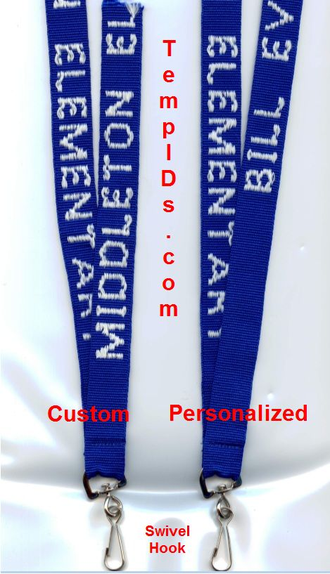 Personalized lanyard compared to custom only