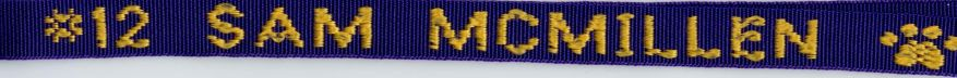 Lanyard for Athletic Players with Name & Jersey Number