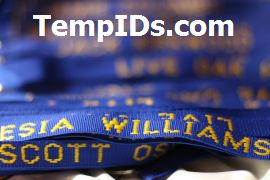 Personalized Holders for IDs with Individual Name Royal Blue with Athletic Gold Imprint