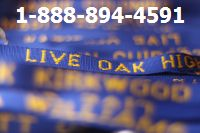 Personalized Lanyards Royal Blue with Athletic Gold Embroidery