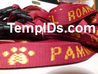School Lanyards Teachers Name Maroon with Athletic Gold Imprint