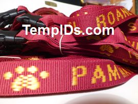 School ID Holders with Individual Teacher Name Maroon with Gold Imprint