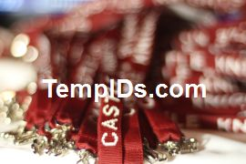 School ID Holders with Individual Teacher Name Maroon with White Imprint