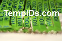 Personalized School Lanyards Teachers Name Lime Green with White Imprint