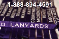 Personalized Lanyards for Schools Purple with White Embroidery