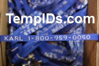 School Lanyards Personalized Blue with Silver Imprint