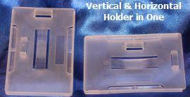Semi Rigid Plastic Holders shown from Rear