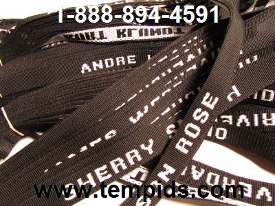 Example of Staff Name lanyard