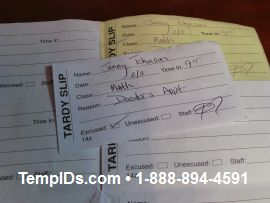 Issued Tardy Slip top white copy