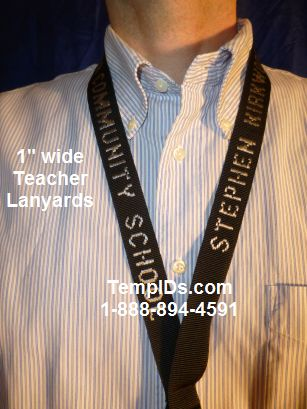 Embroidered Personalized lanyard