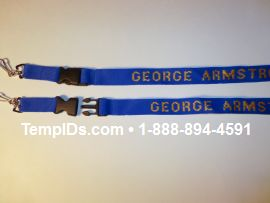 Teacher lanyards with detachable buckle