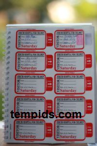 Example of Visitor Badges for Hospitals in Different Colors