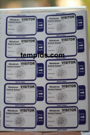 School Visitor Badges that self expire