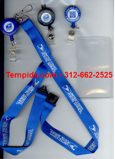 USPS lanyards badge reel samples