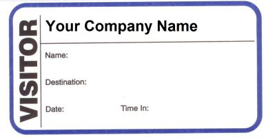 order visitor pass labels with duplicate log visitor label carbon